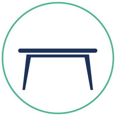 Mikro - encombrant table